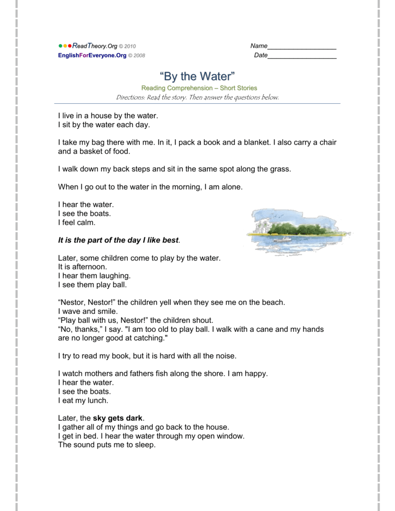 - By The Water - English For Everyone