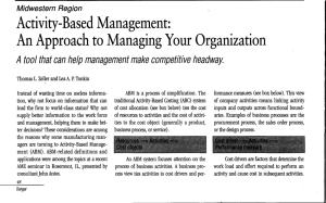 Activity-Based Management - Association for Manufacturing