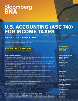 U.S. ACCOUNTING (ASC 740) FOR INCOME TAXES