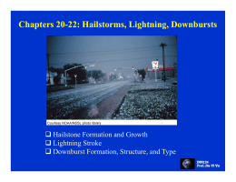 Chapters 20 Chapters 20-22: Hailstorms, Lightning, Downbursts 22