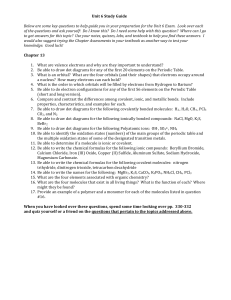 Unit 6 Study Guide Below are some key questions to help guide you in