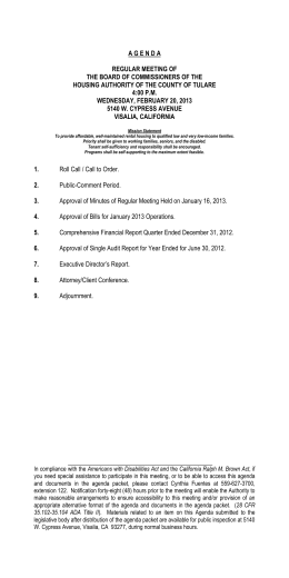 agenda regular meeting of the board of commissioners of the