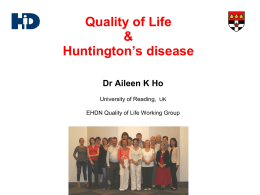 Quality of Life & Huntington's disease