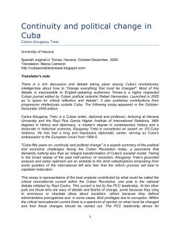 Continuity and political change in Cuba