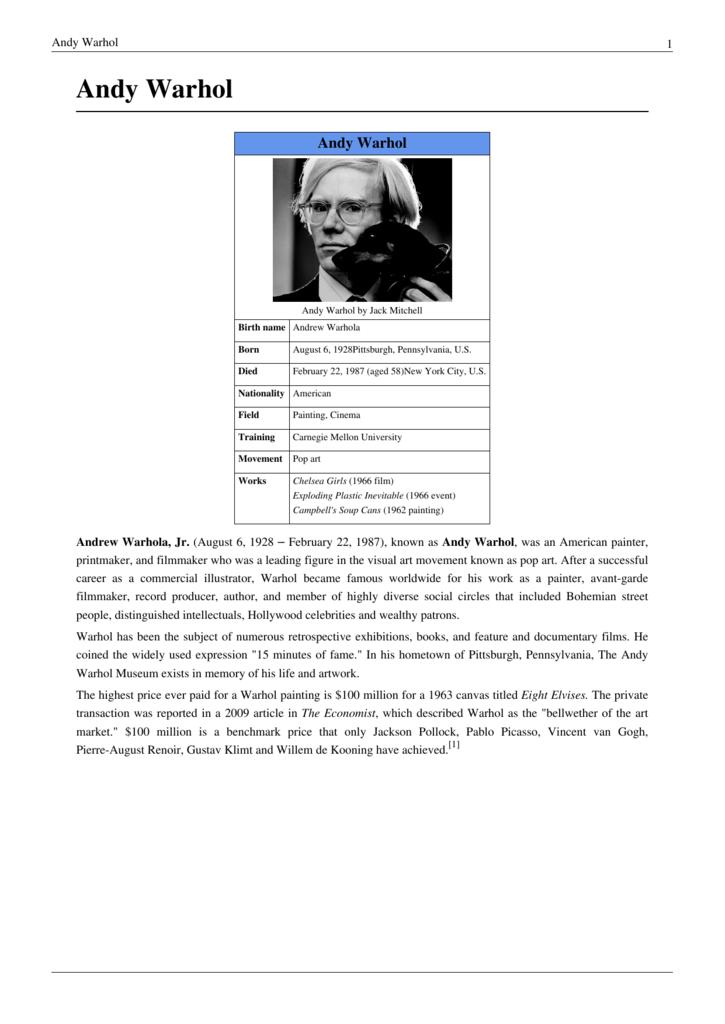 Andy Warhol Saylor Academy