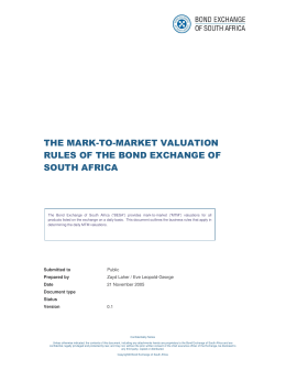 The mark-to-market valuation rules of the bond Exchange of