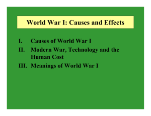 World War I: Causes and Effects