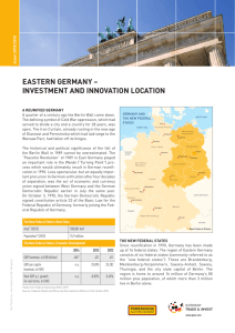 EASTERN GERMANY – INVESTMENT AND INNOVATION LOCATION