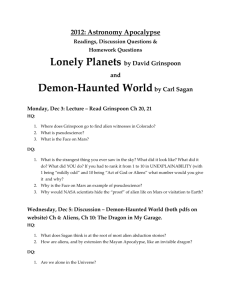 Dec 3: Lonely Planets and Demon-Haunted
