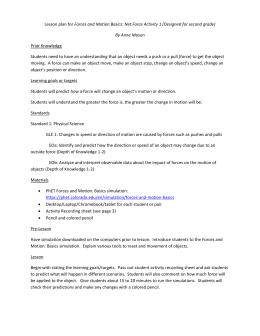 Forces and Motion Basics _Student Worksheet_Level 1