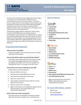 Email & Collaboration Services Fact Sheet - IT Service Catalog