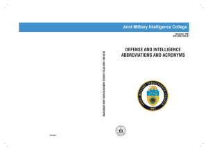 Defense & Intelligence abbreviations