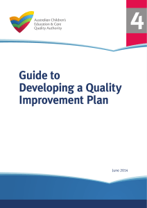 Guide to Developing a Quality Improvement Plan
