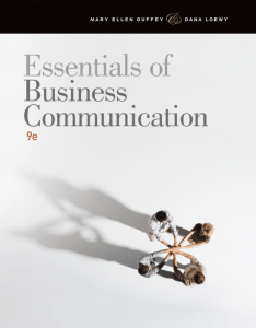 Essentials of Business Communication, 9th ed.