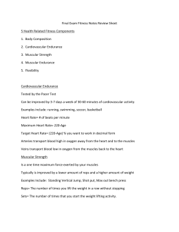 Final Exam Fitness Notes Review Sheet 5 Health Related Fitness