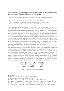 High-accuracy calculation of metastable states of the