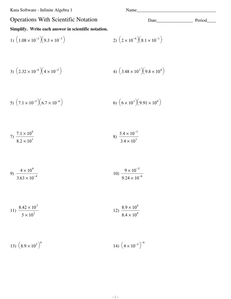 worksheet Algebra 1 Function Notation Worksheet scientific notation worksheets