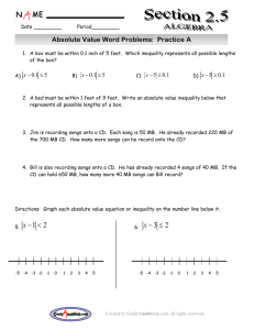 Absolute Value Word Problems