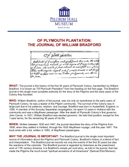 of plymouth plantation: the journal of william bradford