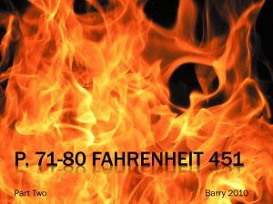 Fahrenheit 451 - Mrs. Barry's Language Arts and Communications
