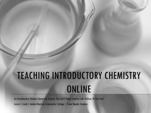 TEACHING INTRODUCTORY CHEMISTRY ONLINE