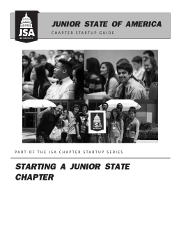 How to start a JSA Chapter