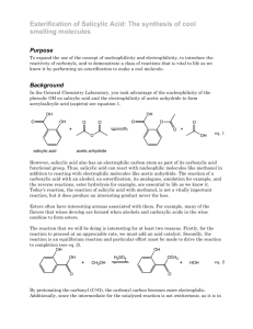 Esterification of Salicylic Acid: The synthesis of cool smelling