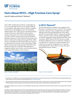 Facts About HFCS—High Fructose Corn Syrup1 - EDIS
