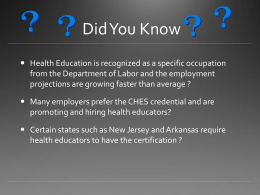 CHES - Oregon Public Health Association