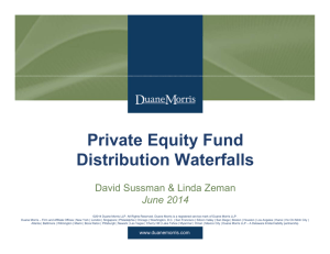Private Equity Fund Distribution Waterfalls