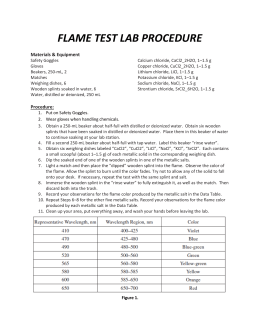 flame test lab report Flame Test Lab.