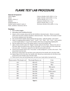 FLAME TEST LAB PROCEDURE
