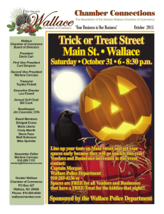 Trick or Treat Street Main St. • Wallace