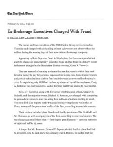 Ex-Brokerage Executives Charged With Fraud