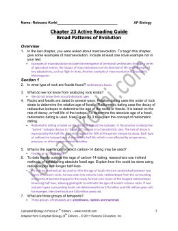 guided reading chapter 26 the history of life on AP Biology Quotes AP Biology Questions by Topic