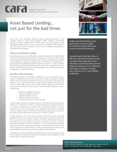 Asset Based Lending… not just for the bad times