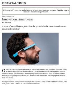 Innovation: Smartwear - FT.com - Gazzaley Lab