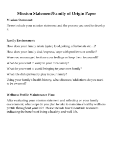 Mission Statement/Family of Origin Paper