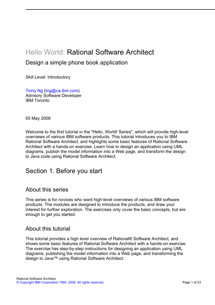 Hello World Rational Software Architect Ftp Directory Listing