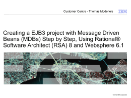 Creating MDB project Step by Step Using RSA 8 and Websphere 6.1