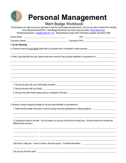 Collection of Personal Finance Merit Badge Worksheet ...