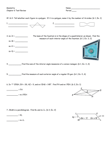Geometry Name Chapter 6 Test Review Period ____ # 1 & 2: Tell