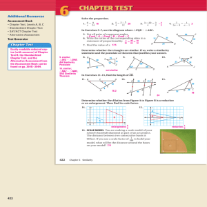 Geometry 6.Review Answers (Textbook)