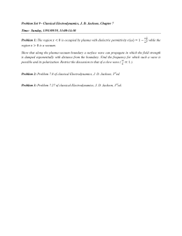 Problem Set 9 - Classical Electrodynamics, J. D. Jackson, Chapter 7