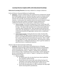 Learning Theories Taught in EDFL 2240: Educational Psychology