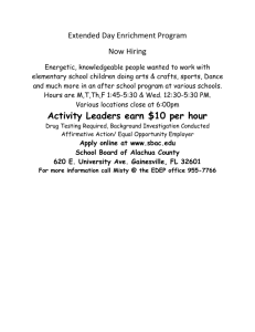 Activity Leaders earn $10 per hour