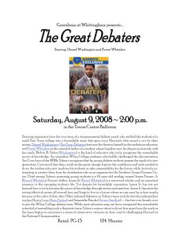 the great debaters analysis