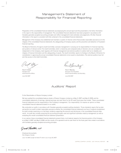 Management's Statement of Responsibility for Financial Reporting