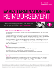 Early TErminaTion FEE - t-mobileadvantagedirect.com