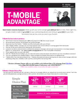 T-Mobile - Discount Purchase Program Home Page